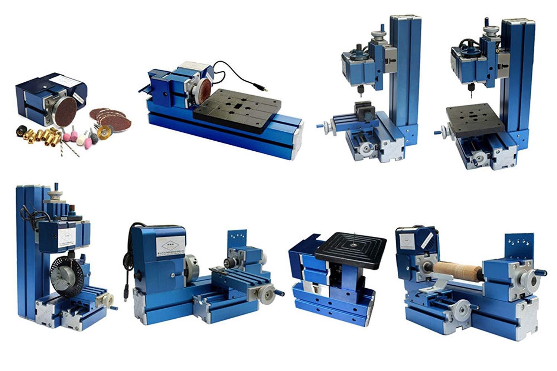SUNWIN Mini Metal 8 in 3 Multipurpose Machine Lathe Machine DIY Tool Wood-turning Kit