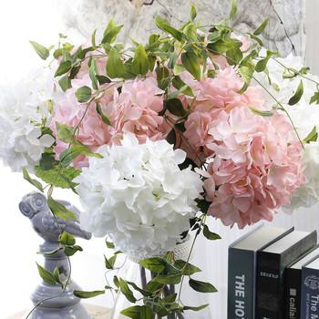 Zero Single Stem Wedding Hydrangea Flowers Silk Artificial Flower