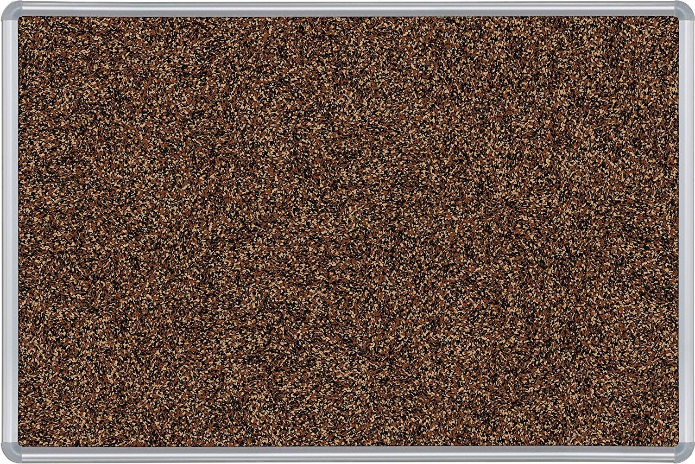 Best-Rite Presidential Trim Rubber-Tak Tackboard, Silver Trim, 4 x 6 Feet, Tan (321PG-95)