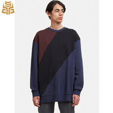 New Design Long Sleeve Continued Spliced Big Panel Drop Shoulder Awesome T Shirts For Man
