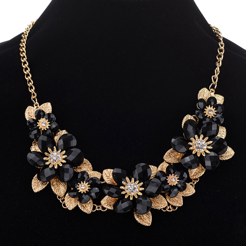 f18f65386fc Wholesale Fashion Jewelry Graceful Chunky Flower Leaf Big  Necklace,Statement Costume Jewelry Made In China - Buy Costume Jewelry,Wholesale  Jewelry,Wholesale ...