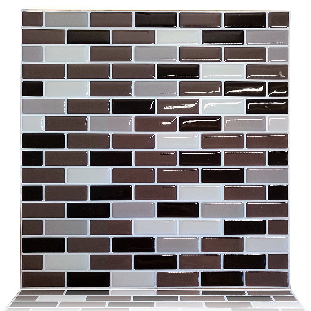 Cheap bal wall tile adhesive find bal wall tile adhesive deals on get quotations cocotik peel and stick tile 10x10 self adhesive 3d wall tile in brown dailygadgetfo Choice Image