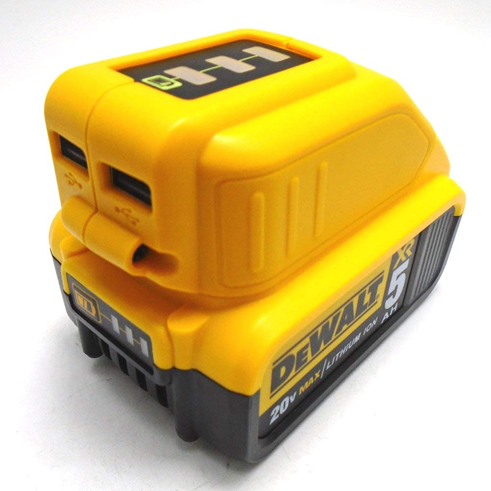 2USB Power Source Compatible Adapter 12V/20V Battery Charger(106.13.7cm,Yellow)