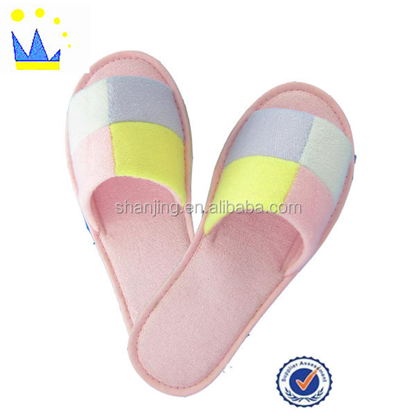 colorful unisex slipper open toe terry house indoor slipper