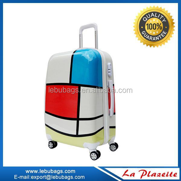 Women and men department abs trolley 2015 travel luggage with TSA lock