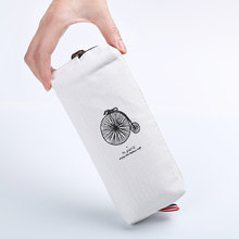 1 шт. Льняная сумка-карандаш в стиле ретро с башнями для студентов, пенал в Парижском Стиле, канцелярский материал, Товары для офиса, новое по...(Китай)