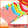 RENJIA hot sale custom fda mitts heat resistant kitchen microwave oven bbq silicone multi-function gloves