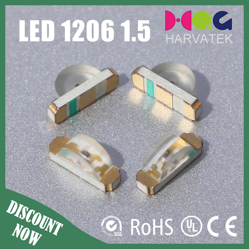 Good price 1.5T surface mount 0603 side view green led components parts