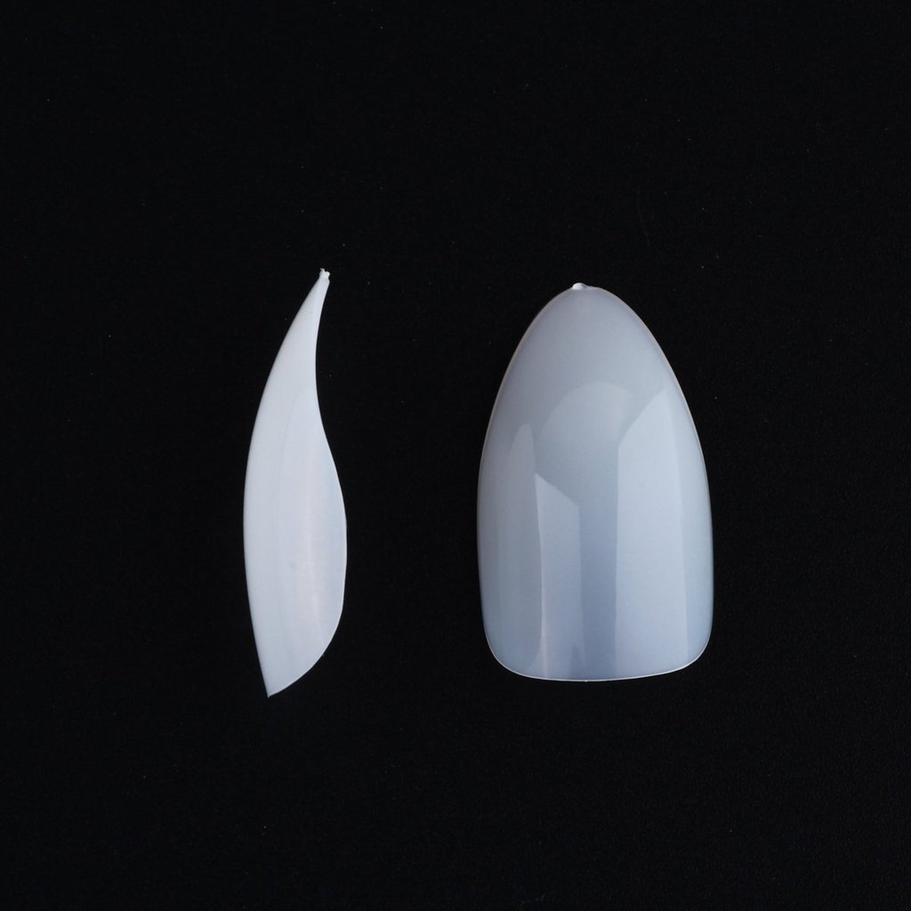 enForten 500pcs Natural Sharp Ending Full Cover Nail Tips Talons Stiletto Claw Shape False Nails 10 Sizes for Nail Salons and Home DIY Nail Art Deco