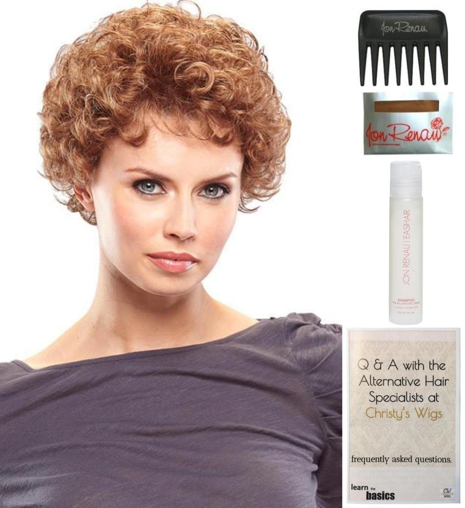 Bundle - 3 items: Lite N Easy Wig by Jon Renau, 15 Page Christy's Wigs Q & A Booklet & Wide Tooth Comb COLOR: 17/101