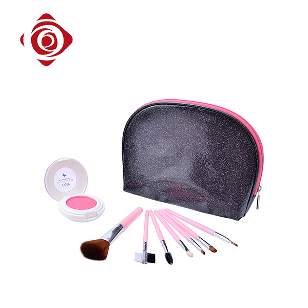 Fashion small cosmetic brush bag cheap zipper pu pouch