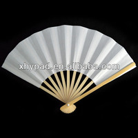 blank personalized manual hand held folding fans