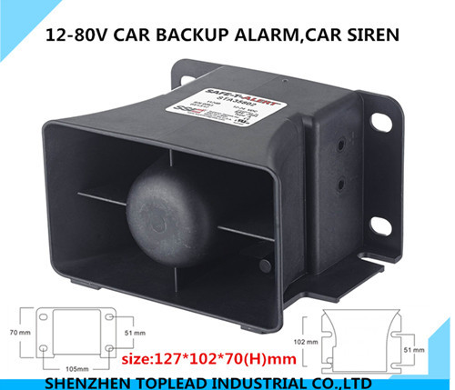 12-80V waterproof Car Backup Alarm Horn ,Safety Reversing Alarm Siren with CE approval