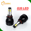 china wholesale auto car 45w d2 d4 led headlight 80w 8000lm COB led light all in one 4 sides 6000k h4 led headlight G5 G20 G21