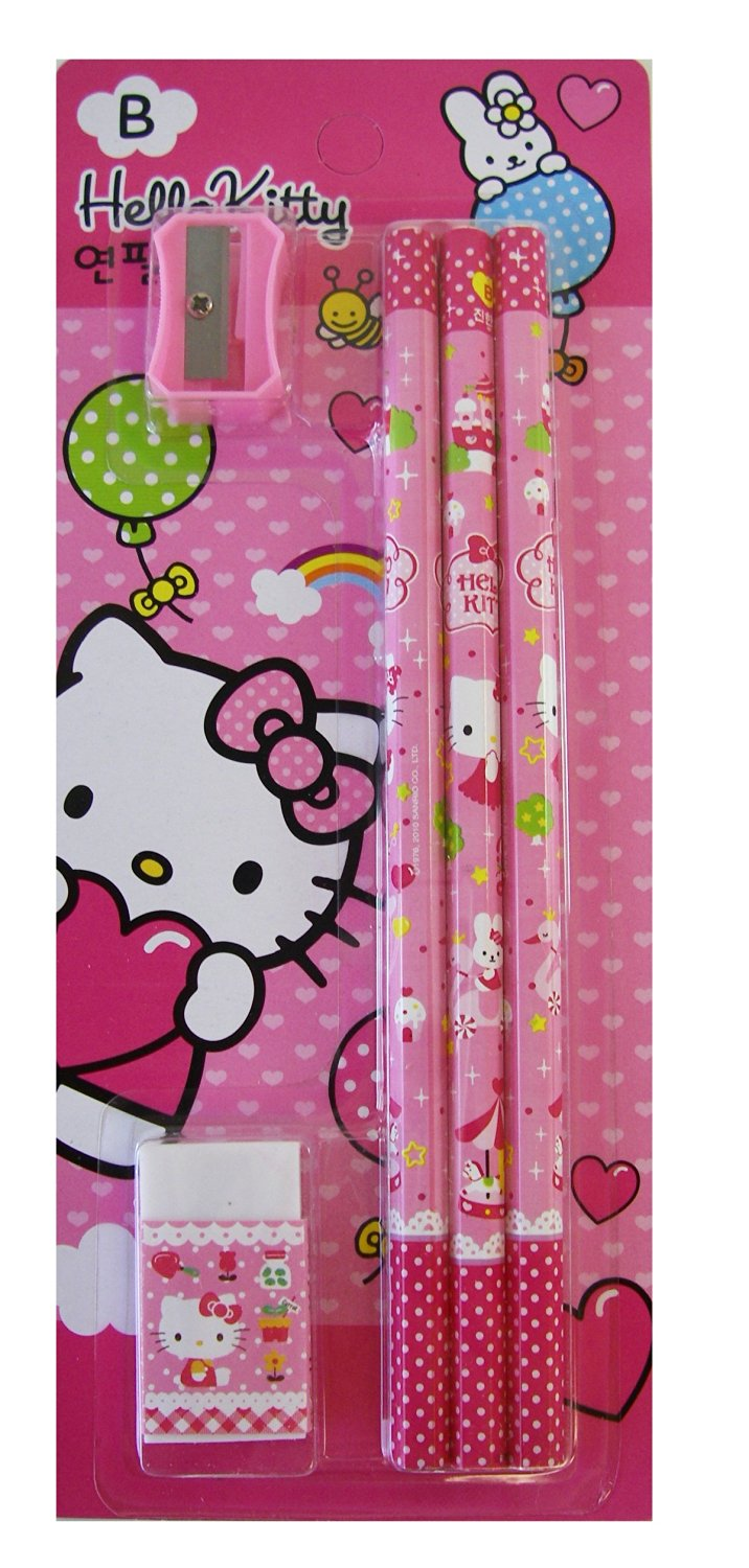 Hello kitty pencils / Pencil Sharpner Set (5pcs Pack) [Toy] [Toy]
