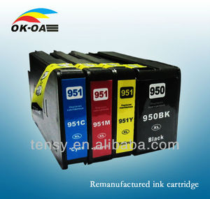 new generation chip replacement ink cartridge 950 951 one set works with officeJet Pro 8100 8600