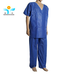 doctors patient disposable pajamas operating room PP/SMS medical Bata para paciente
