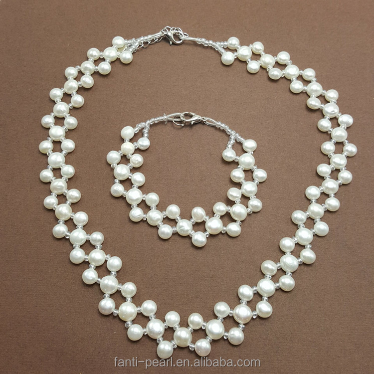 Fashion elegant multi layer hand making pearl necklace excellent apparel accessories freshwater pearl