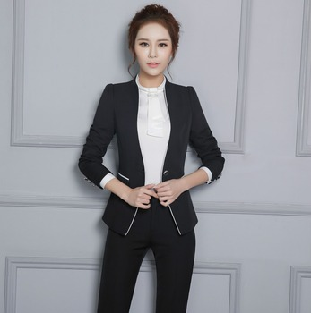 Spring New Style Women s Button Bi Stretch Notch Suit Jacket - Buy ... 0620ea249