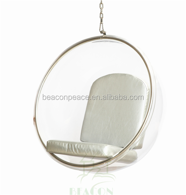 acrylic hanging bubble chair with Stainless Steel frame