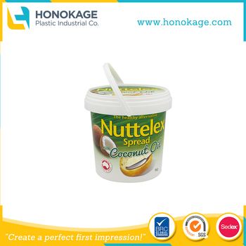 1L IML Round Box for Ice Cream with Existed Mould IML Butter Tub Yogurt Bucket Packaging