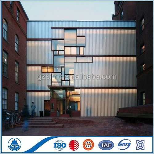 Glass curtain wall with aluminum for Serbia