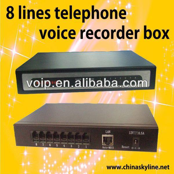 8 lines telephone voice recorder box vehicle traveling data recorder