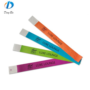 Cheap Customized Paper Bracelets one time paper wrist bands as admission ticket wristband tyvek