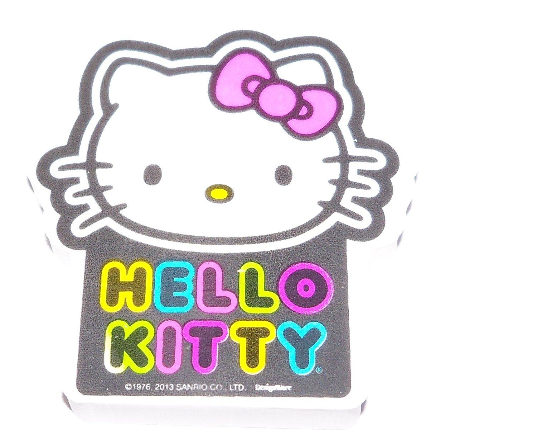 """Hello Kitty Jumbo Shaped Eraser ~ Neon Kitty (1 Eraser; 3"""" x 2.25"""")"""