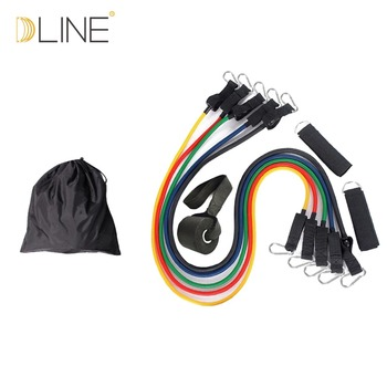 11 STKS Fitness Latex Resistance Bands Oefening Set