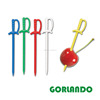 Plastic party items Sword Picks mixed colors