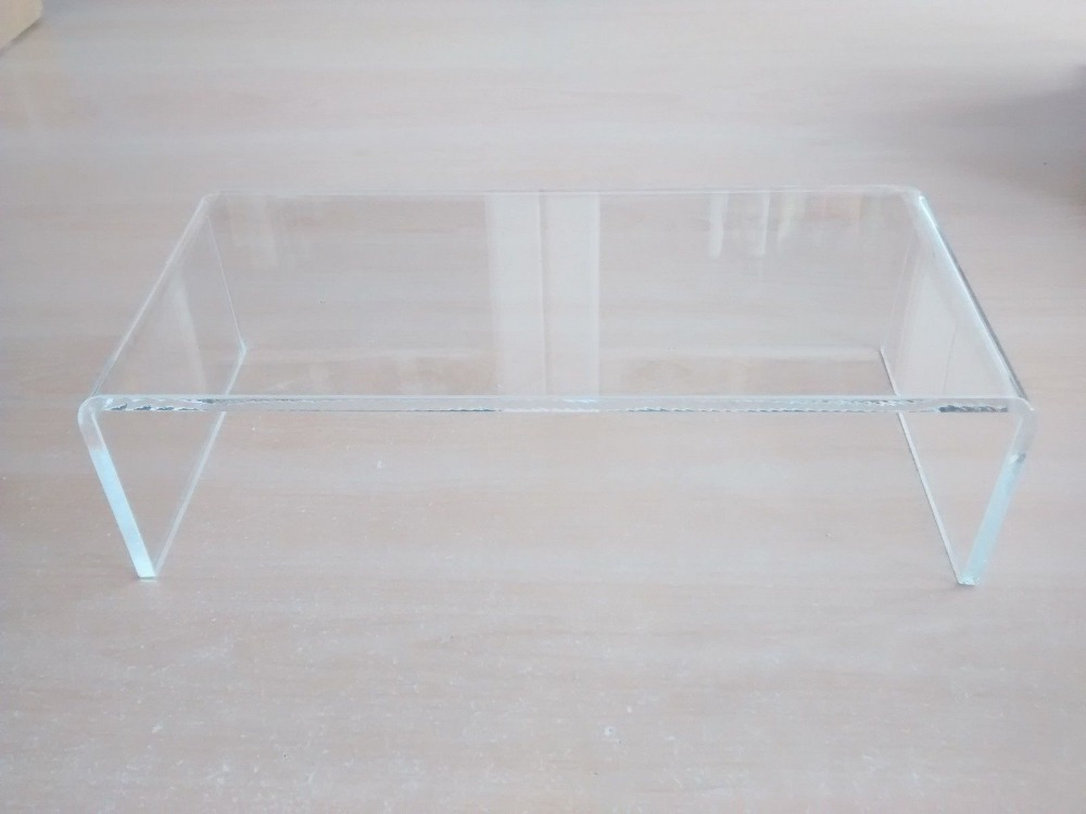 PERSPEX ACRYLIC CABINET DISPLAY RISER SHELF 27cm STAND 6mm thick With Custom Size