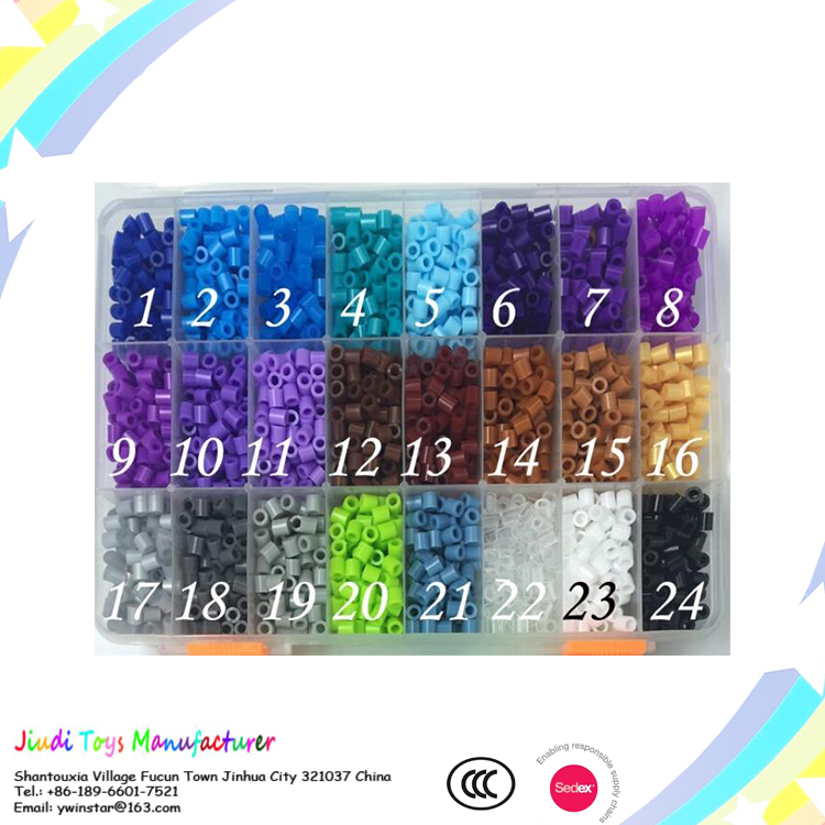 DIY 36 colorful hama beads for kid high quality iron beads 5mm colorful per ler beads
