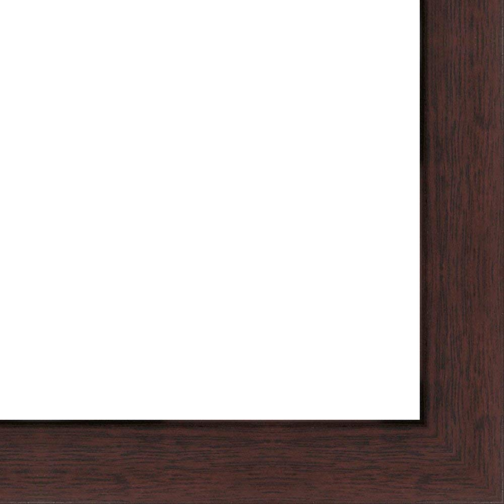 8x10 - 8 x 10 Walnut Flat Solid Wood Frame with UV Framer's Acrylic & Foam Board Backing - Great For a Photo, Poster, Painting, Document, or Mirror