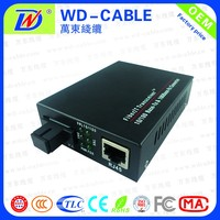 China supplier 50km media converter optical fiber transmitter and receiver sc port WDM