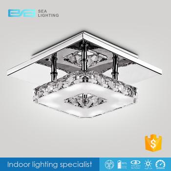 Hotel Dubai Square Crystal Cover Mounting Bracket Led Ceiling