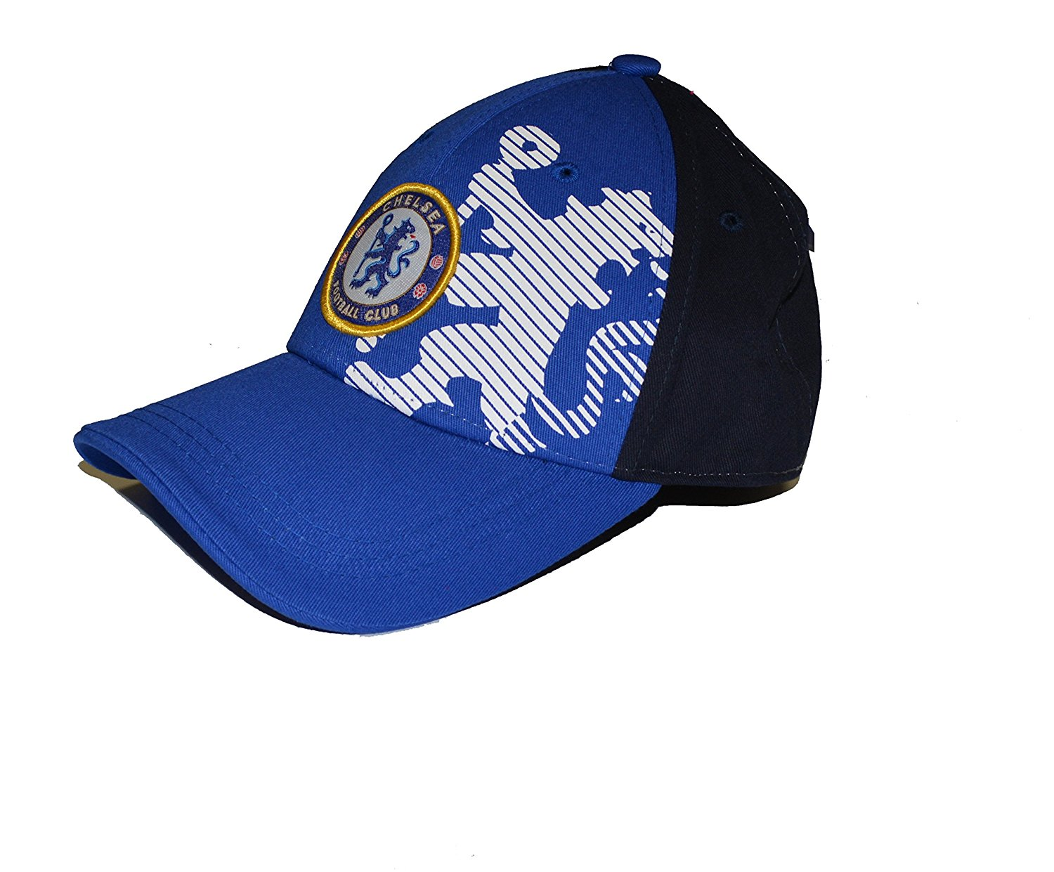 Chelsea Fc Flex Cap Six Panel Navy Blue White Lion  31b0696103a2