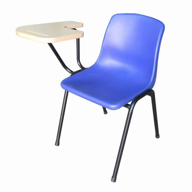 Plastic Stacking Chair With Writing Pad Stracking Top Auditorium