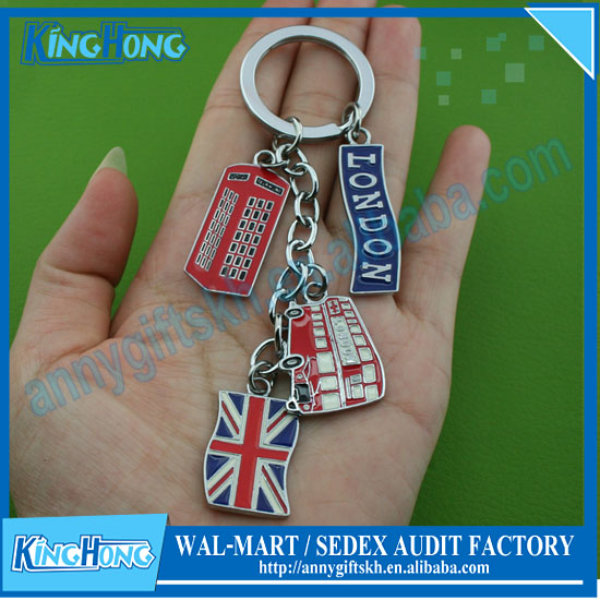 Mix the British flag to commemorate the paint key chain