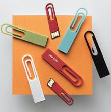 Paper clip 2g USB Flash drive ultra-thin bookmark book folder pendrive 4g usb 2.0