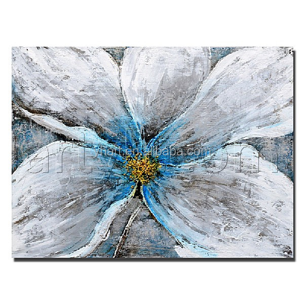 Single Panel Modern Golden Rose flower painting modern Handmade Beautiful Painting on Canvas Home Decor Wall Art
