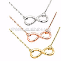Olivia fashion wholesale european jewelry 3 colors infinity 8 stainless steel necklace