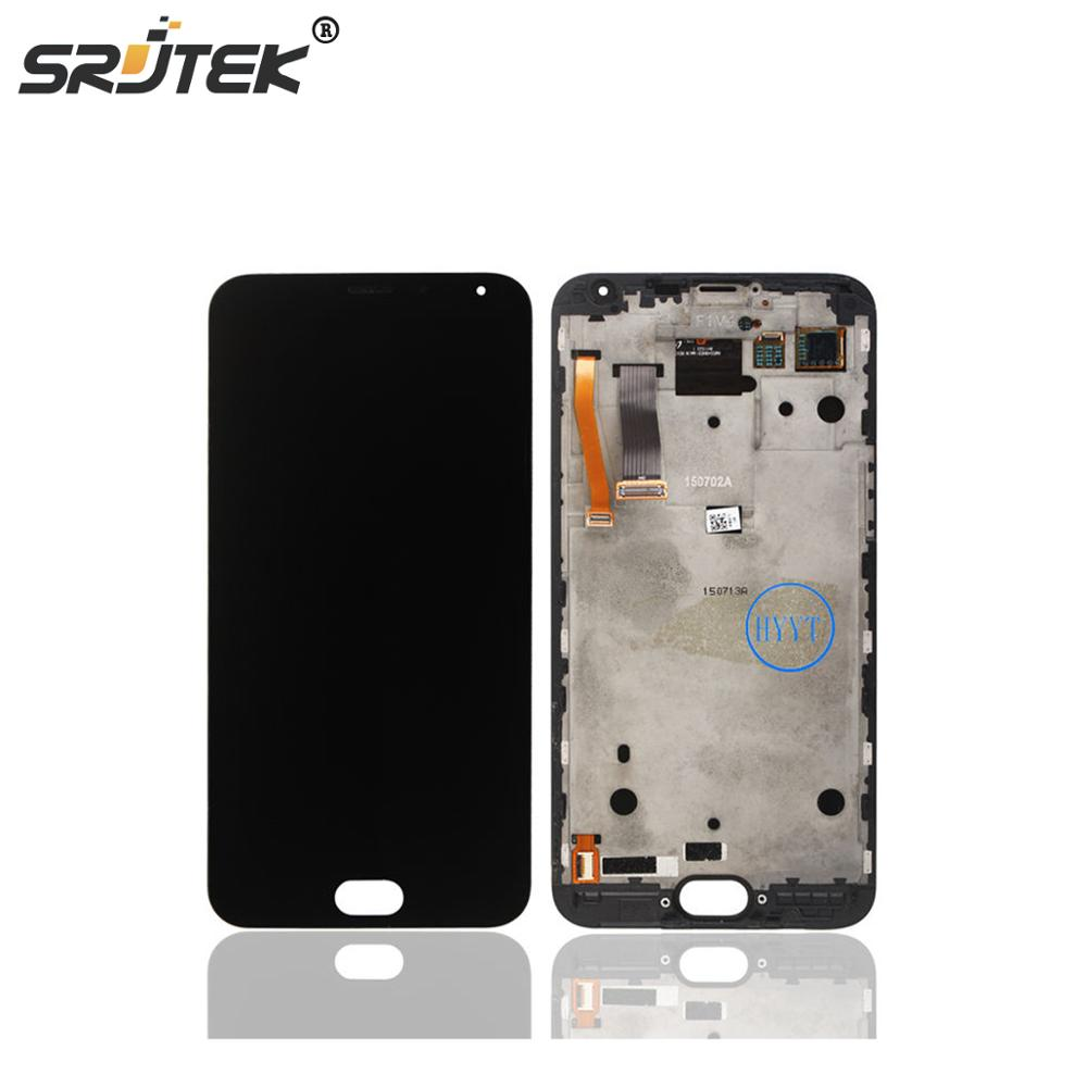 For 5.5'' Meizu MX5 MX 5 LCD Screen Display Touch Digitizer With frame