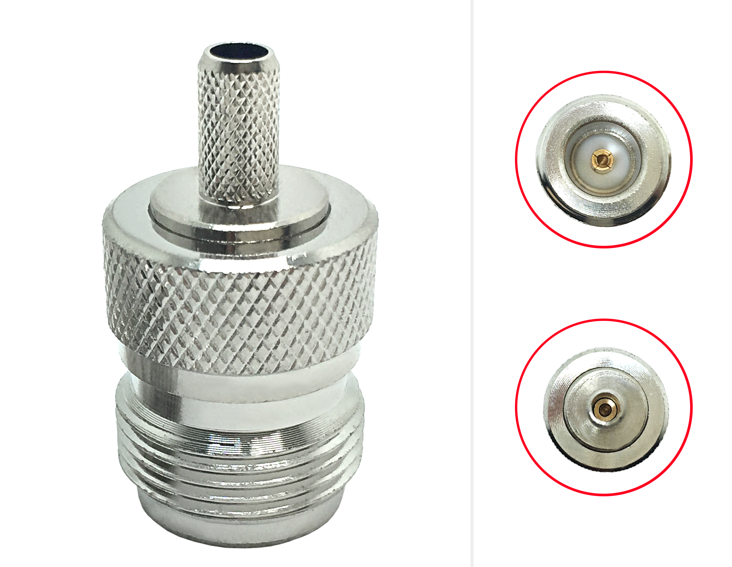 Jack / female B-H coaxial bulkhead n-j connector iso connector electrical crimp for LMR195 LMR200 RG58 RG400