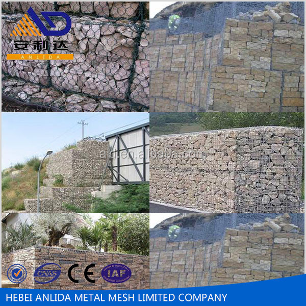 2015 hot sale gabion retaining wall/ welded gaion wall building/ galvanied gabion box