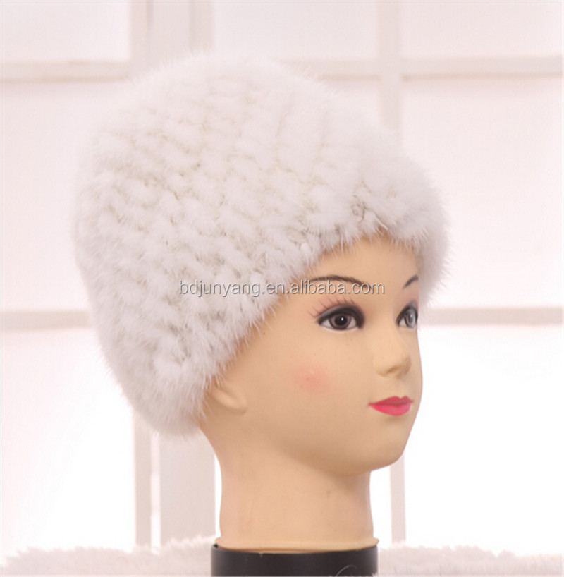 beaver fur hats acrylic knit fake fur hat  mink fur hat winter fur ball  animal hat 3c2c6c4bc0e