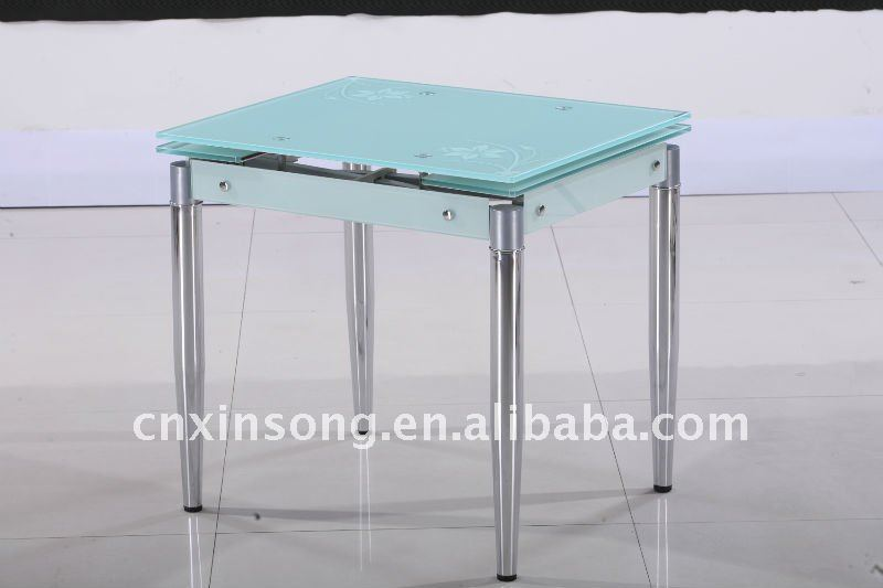 2014 BAZHOU modern tempered glass Dining table