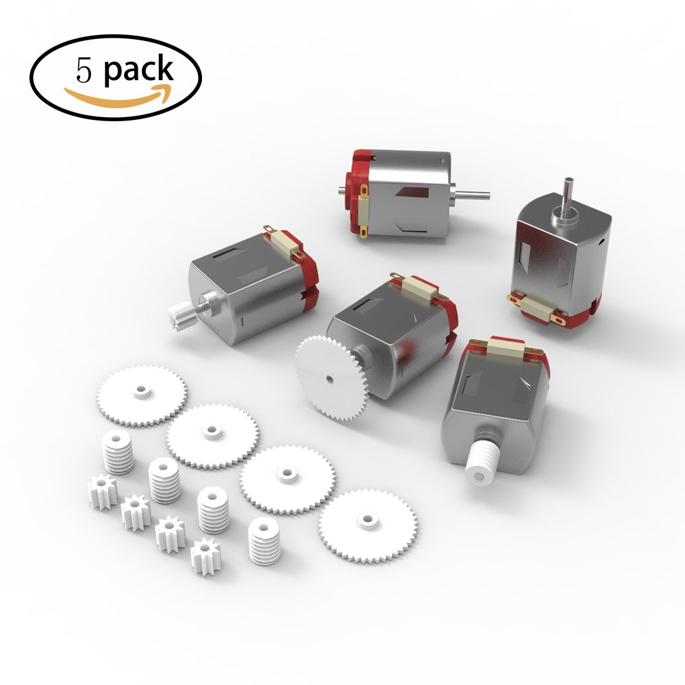 DIY 5pcs Mini Electric DC 130 Micro Motor 3-6V Remote 16000-17000RPM 15 Gears