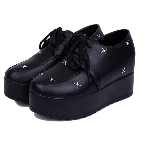 2015 New Brand Creepers Platform Shoes Woman Shoes Womens Sapatilha Women flats Fashion Spring Autumn Creepers Shoes DX71