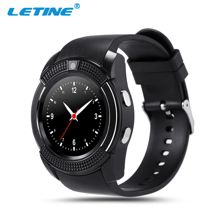 Hot selling bluetooth 4.0 smartwatch hand mobile watch phone price V8 latest wrist smart wach online shopping